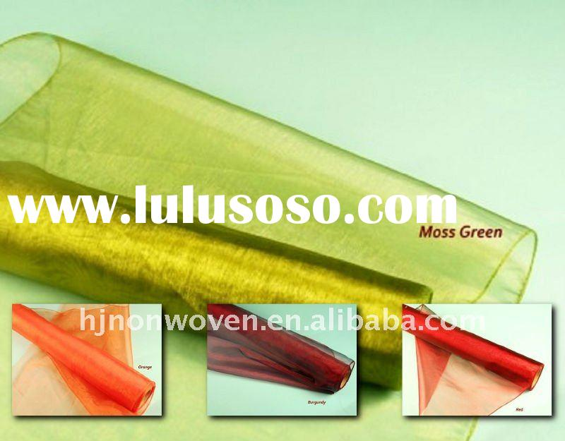 Organza flower wrapping material/Transparent organza roll/packing paper/organza fabric/2012 fashion
