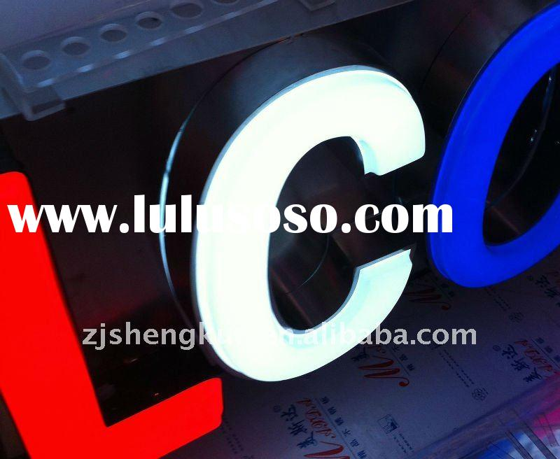 Outdoor Waterproof Acrylic LED illuminated channel letters