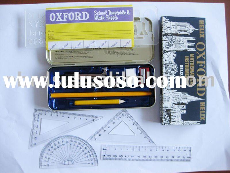 Oxford school stationery set 13 pcs with ruler