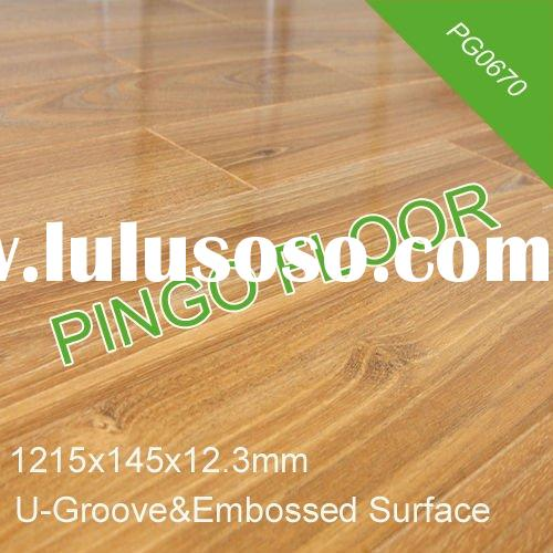 PG0670 Embossed Double Click waterproof Flooring Laminated