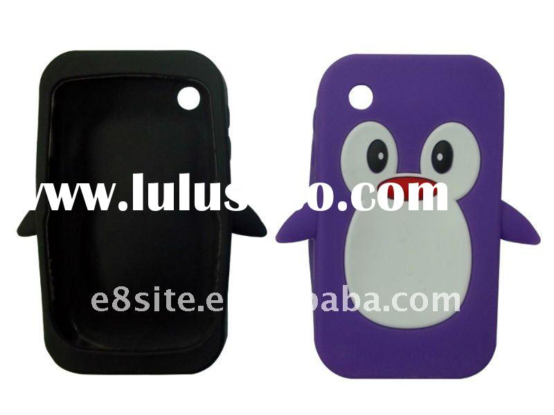 Penguin Design Cell Phone Silicon Case For BlackBerry 8520 Curve