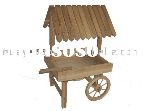Planter Carts Wooden, Wood Wagon Planters, Garden Wagons