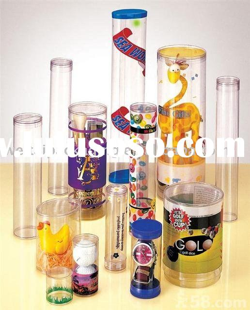 Plastic Cylinder Toy Packaging Boxes