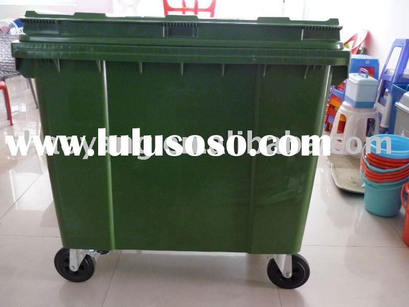 Kitchen Trash Bin On Wheels: Plastic Container Wheels For Sale
