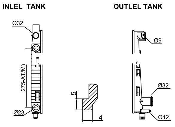 Plastic tanks for radiator for BENZ cars/car water tank