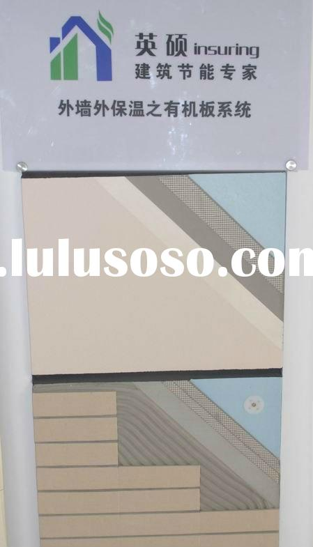 Fireproof decorating and insulation board for external for Fireproof wall insulation