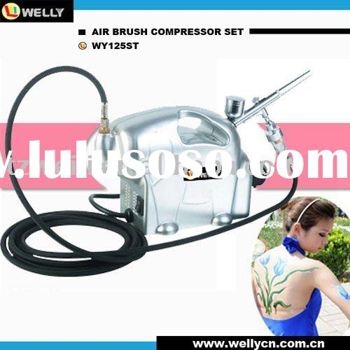 Portable design mini airbrush compressor with airbrush and kit