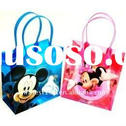 Printed Clear PP Mickey mouse gift bag wholesale