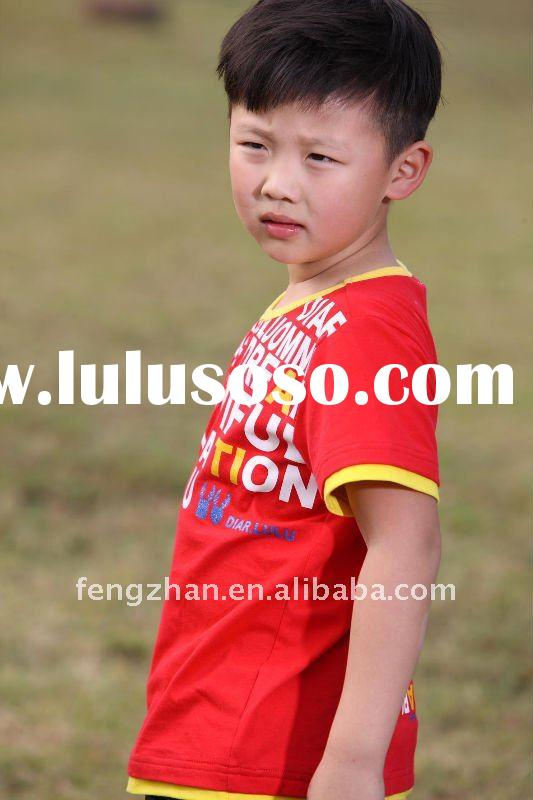 Printed fashion boys kids t-shirts design
