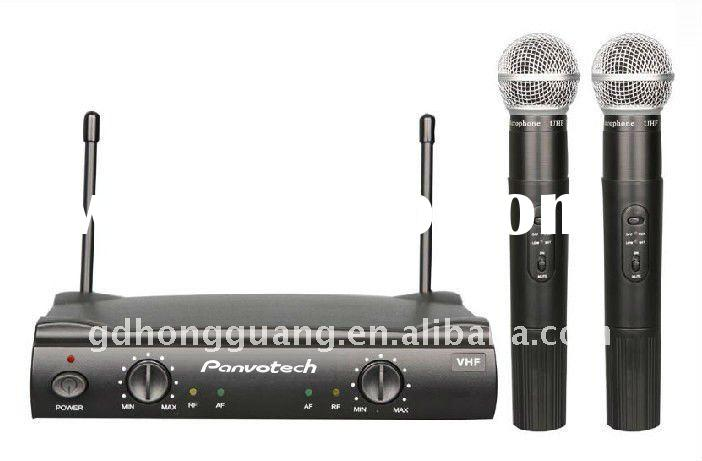 Professional UHF dual channel wireless handheld microphone manufacturer