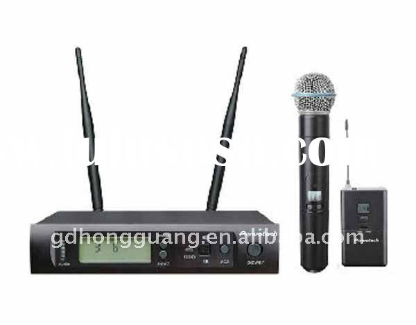 Professional UHF single channel wireless microphone with IR frequency auto matching manufacturer