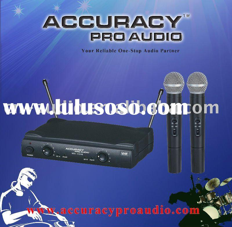 Professional VHF Dual Channels Wireless Microphone System MA-V338