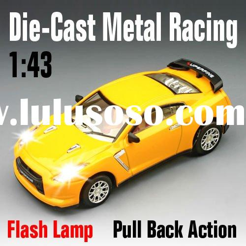 RC Car,1:43 Scale Die-Cast Super Metal Racing With LED Lights