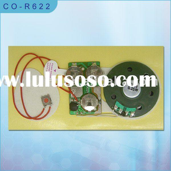 Recordable module with adhesive back/Talking module/Voice module for greeting card