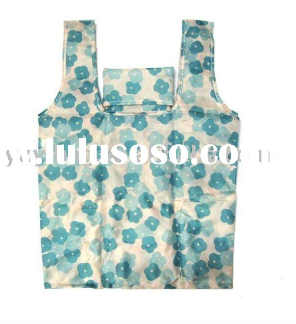 Recyclable nylon/polyester shopping tote bags