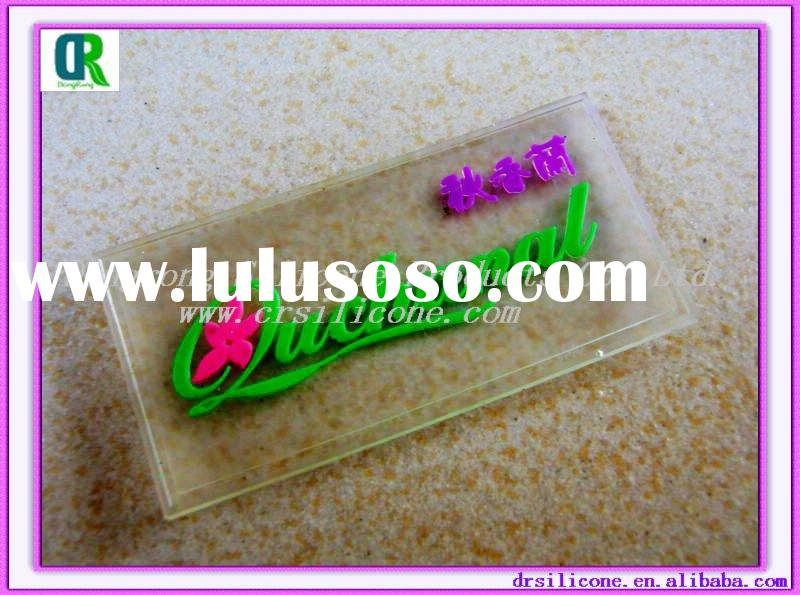 Resin soft pvc patches for dress