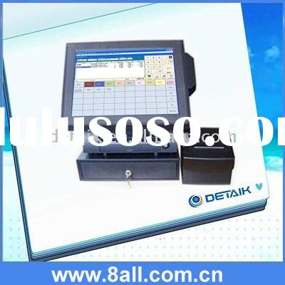 Restaurant 15 inch POS System LCD Touch Screen Terminal / point of sale all in one barcode scan engi