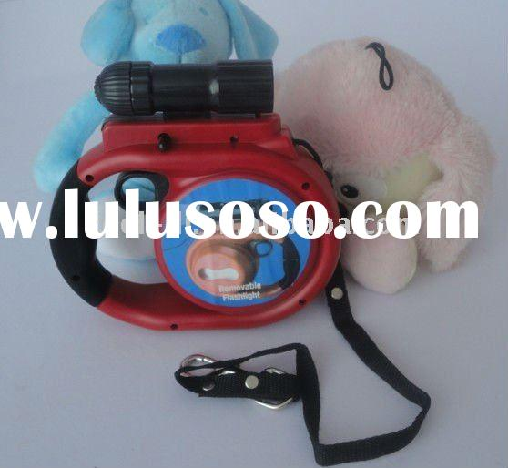 Retractable dog leash With poop bag and LED light PRL64