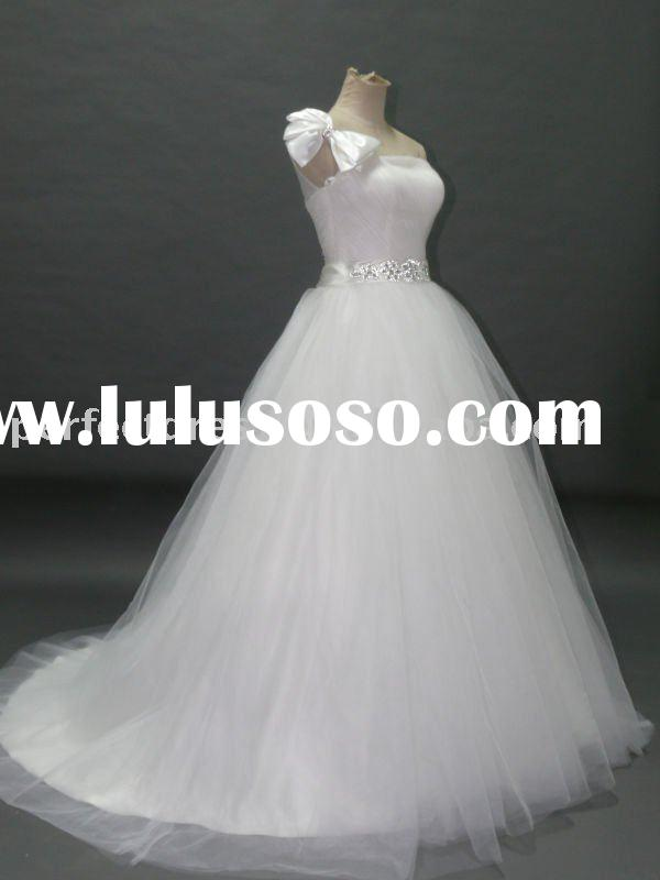 Rhinestone My lady open back bridal dresses