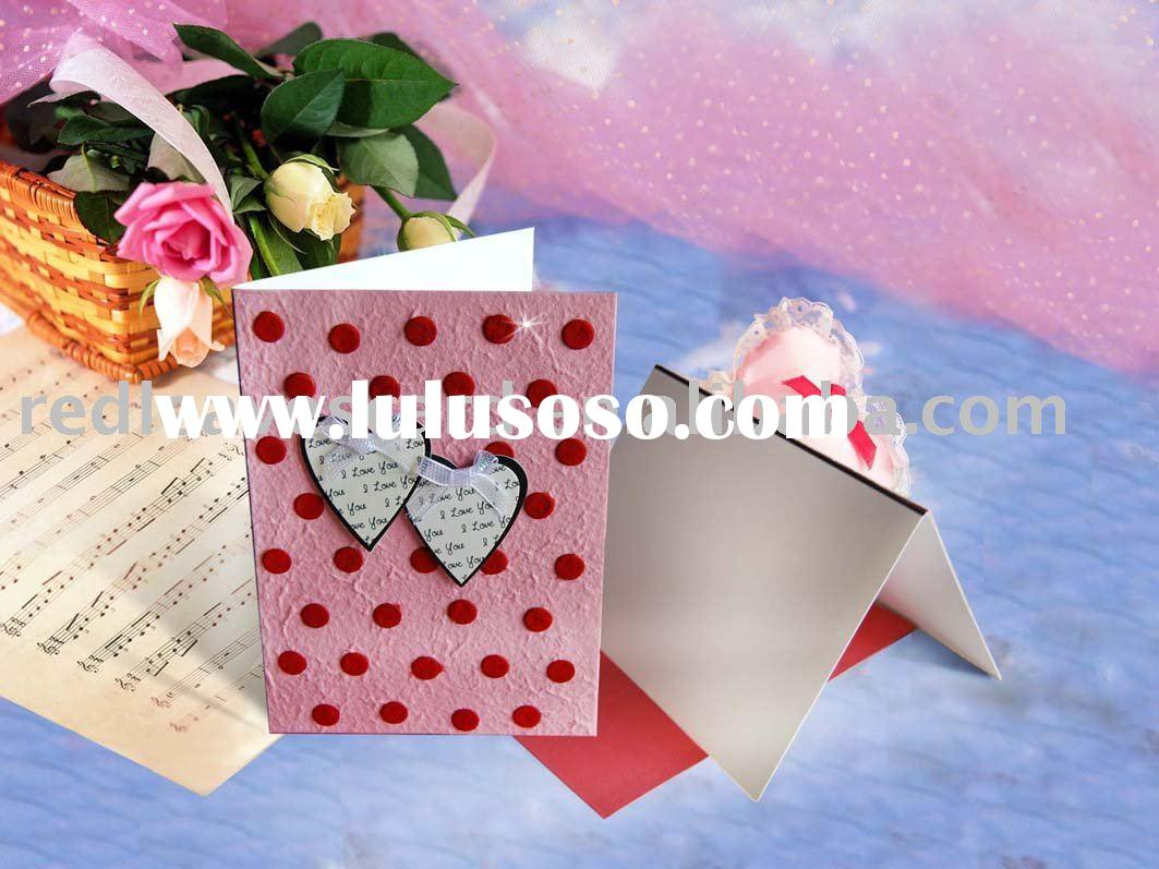 Romantic handmade happy valentine's day card HG802-01