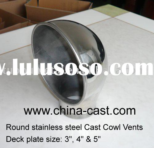 Round Stainless Steel Cast Cowl Vents,deck plate