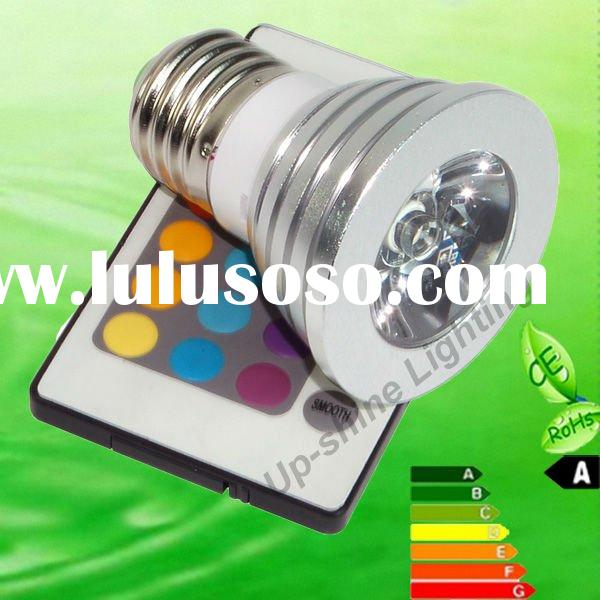 SAA 3W E27 RGB remote control LED spot light