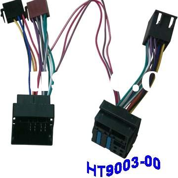Sell car ISO wire harness(Car stereo wire harness,car Audio wire harness,Car video harness)