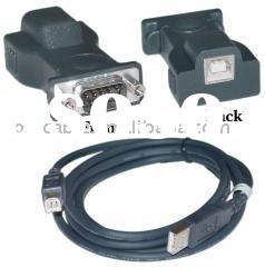 Serial adapter, usb connector, male and female plug