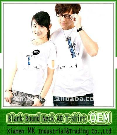 Short sleeve Round-neck Couple Designed T shirt