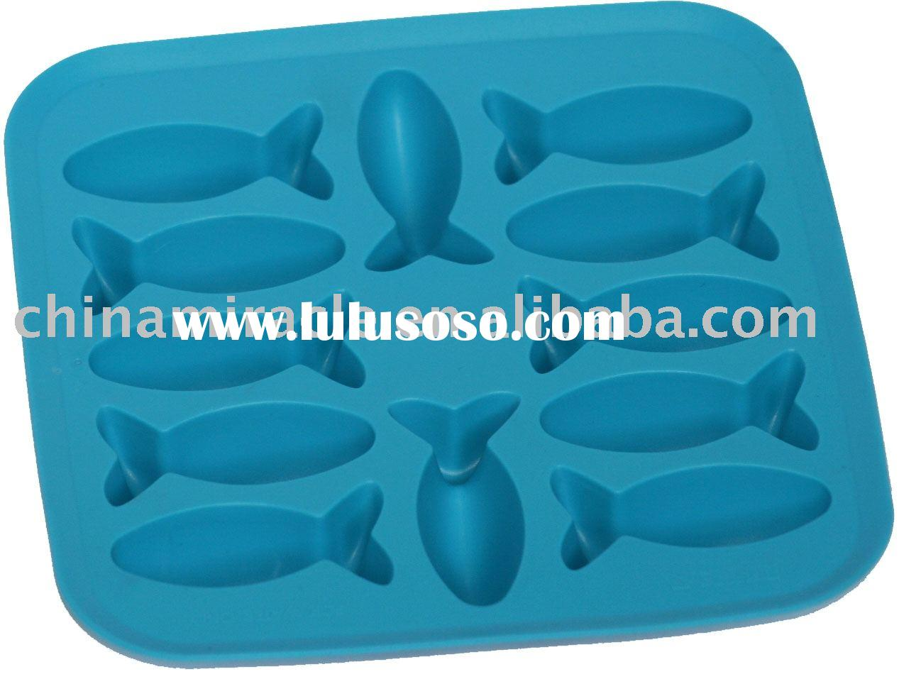 Silicone ice cube trays/ice cube box/plastic ice cube