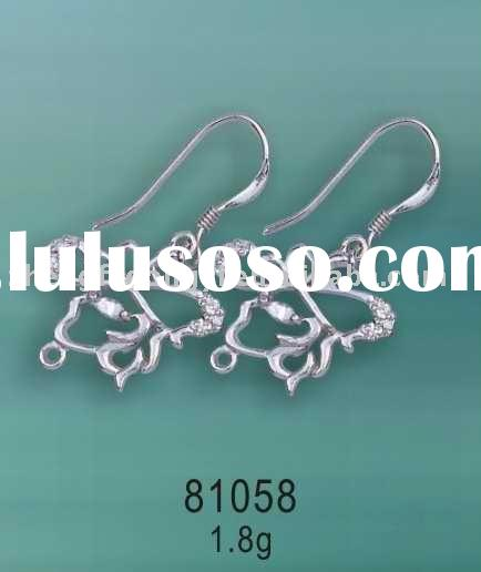 Silver Jewelry Findings/925 Sterling Silver Earring Parts