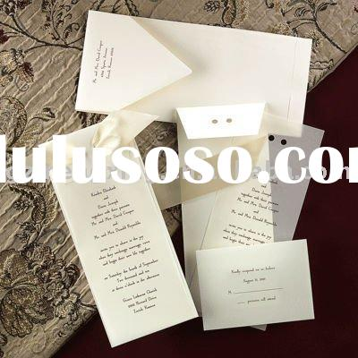 Slim Elegant Wedding Invitations With Tracing Paper-------EA931