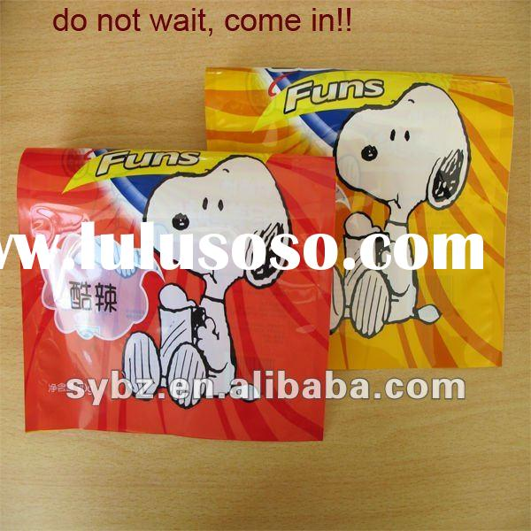 Snoopy Potato Chips Packaging bag(ISO 9001:2000/GMP/3-side seal/recyclable)
