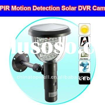 Solar DVR Security Camera with PIR Motion Detection Video Recording