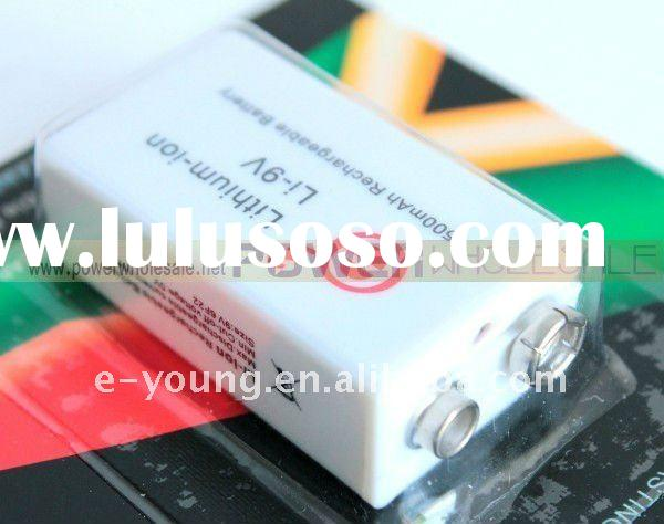 Soshine 500mAh 9V Lithium-ion Rechargeable Battery