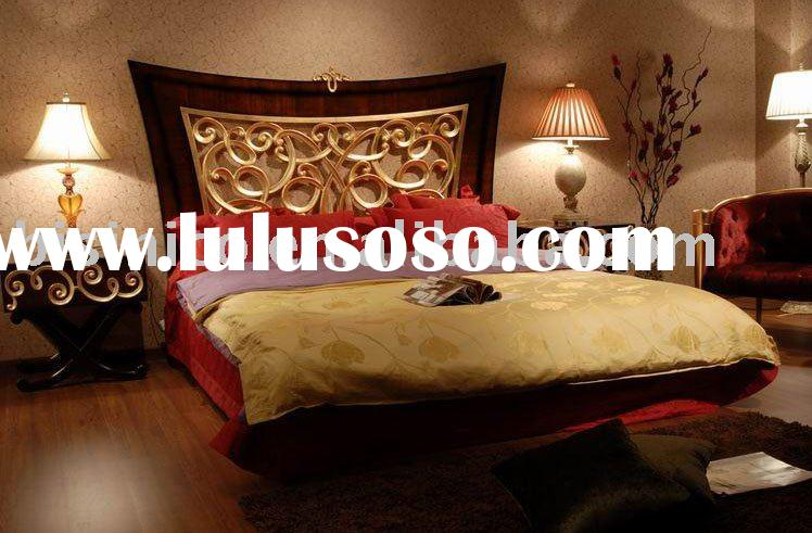 Special design antique hand carved solid wood bed