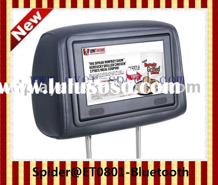 Spider ET0811-Bluetooth Taxi Headrest Interactive advertising LCD screen