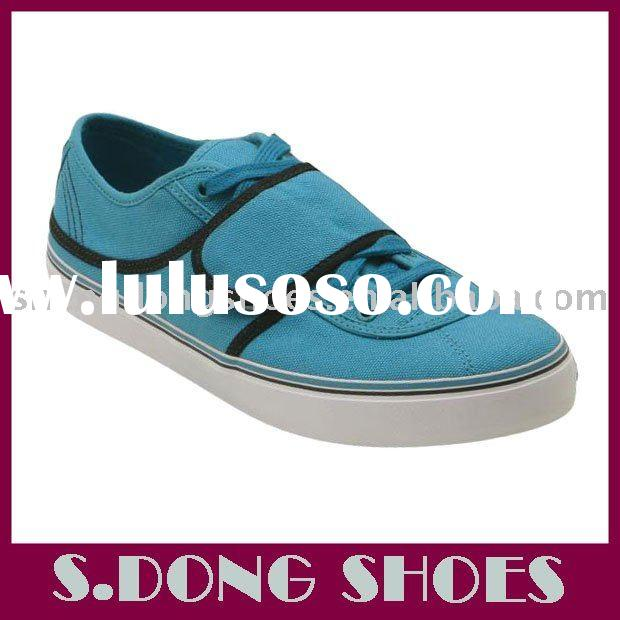 Spring Style Blue Canvas Sneakers with Single Velcro