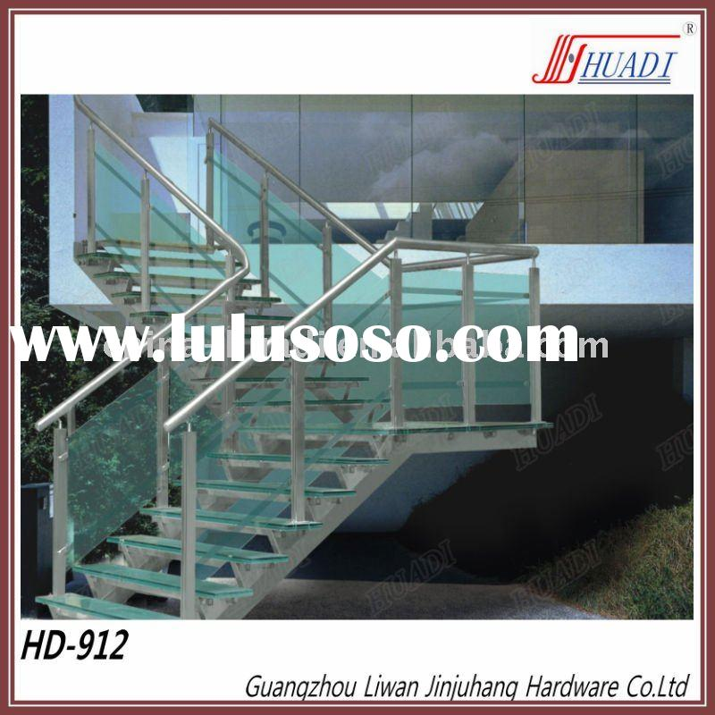 Stainless Steel + Glass Stair Handrail
