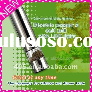 Stainless steel Electric pepper and salt mill