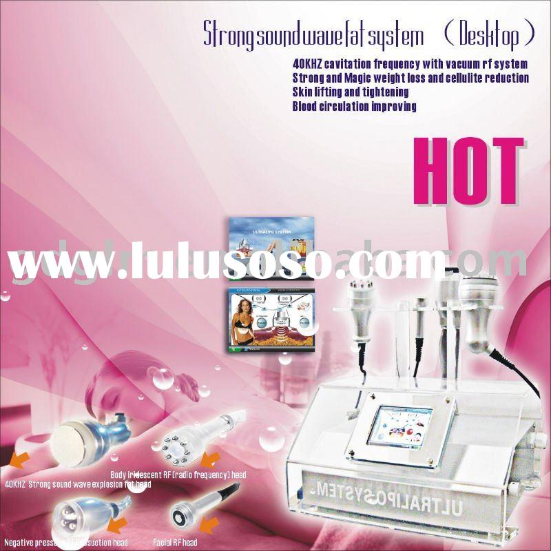 Strong sound wave fat system body building vacuum machine for beauty salon use