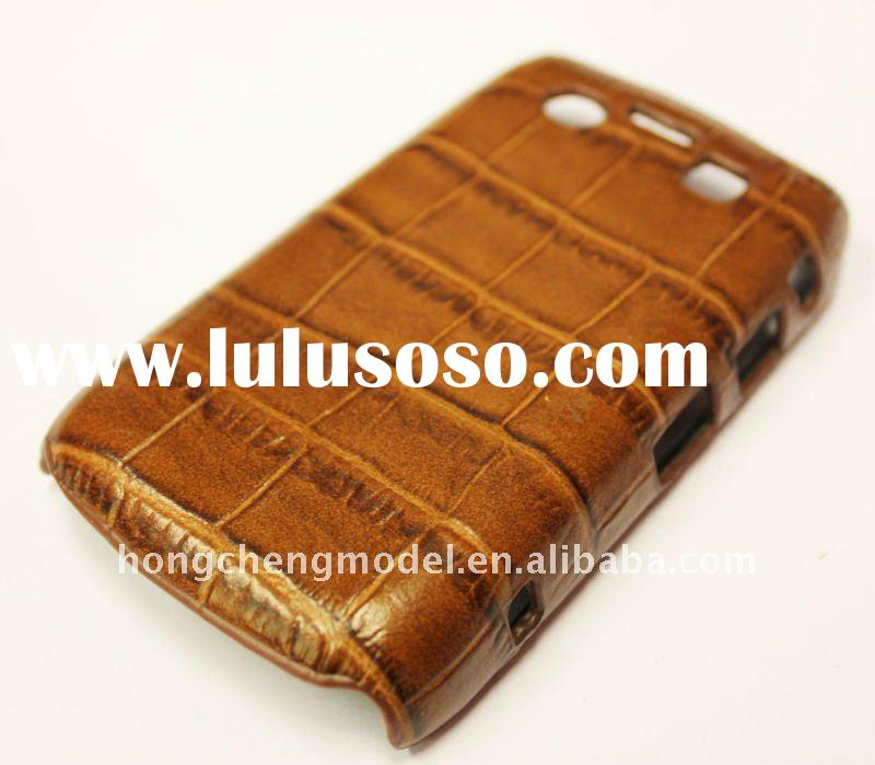 Stylish mobile phone leather case for blackberry bold 9700