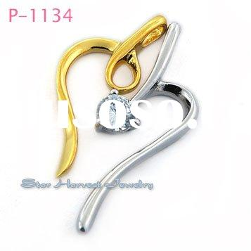 Stylish pendants fashion silver+ gold plated jewelry