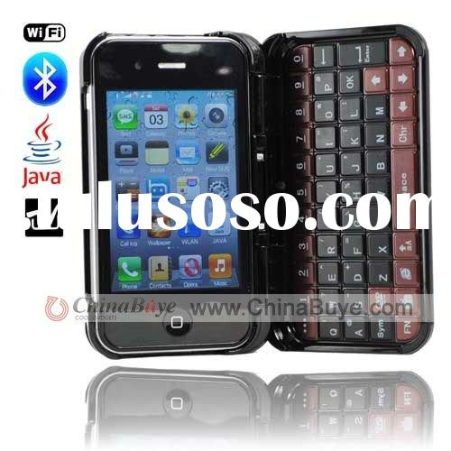 T7000 Quad Band Dual SIM Dual Standby 3.5 Touch Screen WIFI Bluetooth JAVA TV Mobile Phone with Keyb