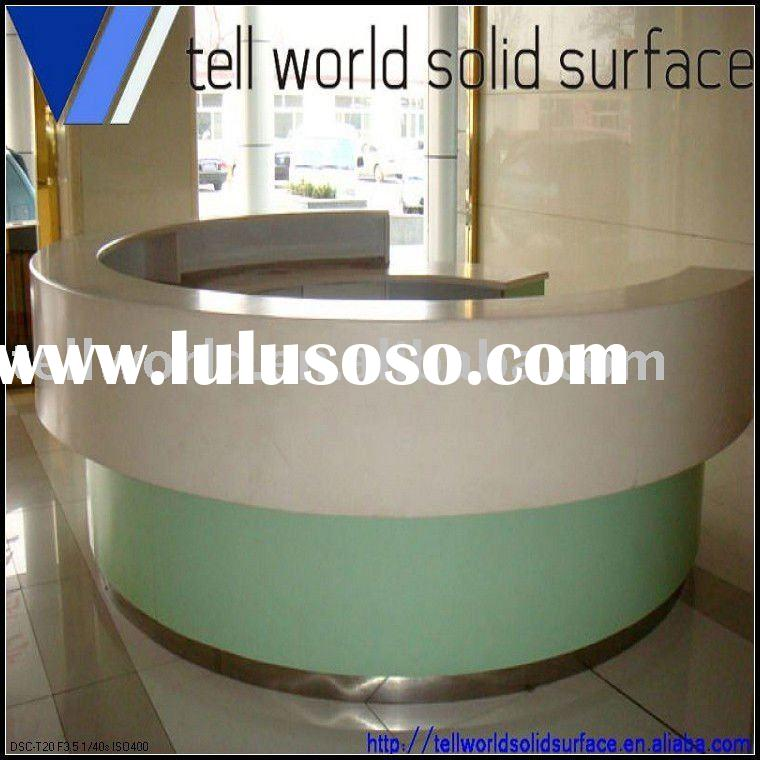 TW corian solid surface reception counter