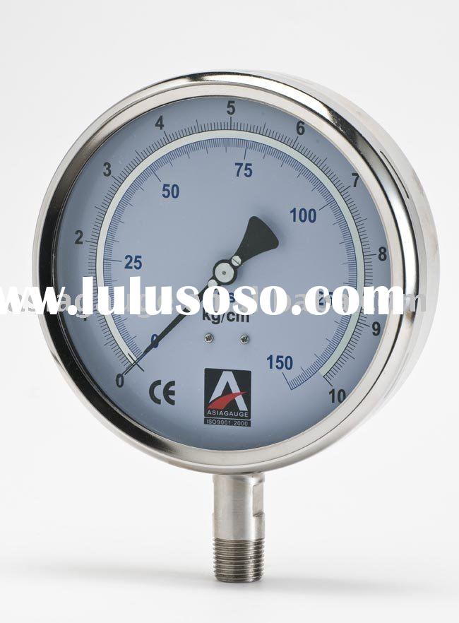 Precision Pressure Gauges : Bourdon tube pressure gauge liquid filled for