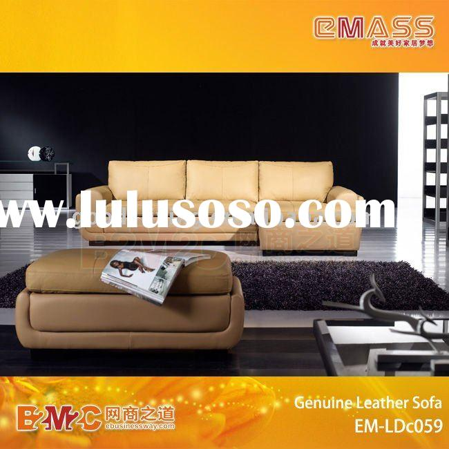 Top Grain Leather China Sofa Style EM-LDc059