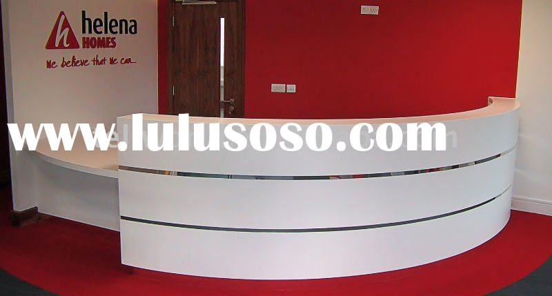 Top quality/best price corian solid surface reception desk/front table