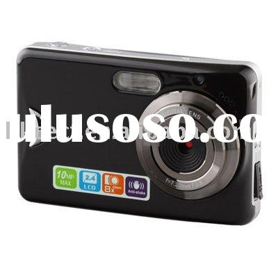 """Touch screen 10 Megapixel Digital camera with 2.4""""LCD&Face Detect"""