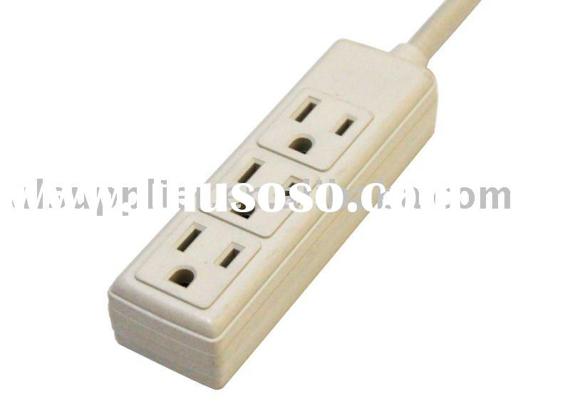 UL-Listed 3 outlet power strip/extension outlet
